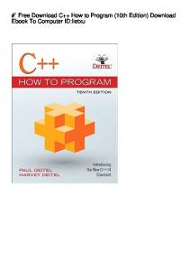 #` Free Download C++ How to Program (10th Edition