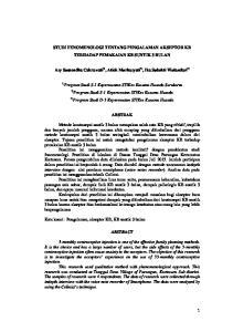 1 STUDI FENOMENOLOGI TENTANG PENGALAMAN AKSEPTOR