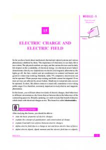 15 electric charge and electric field - NIOS