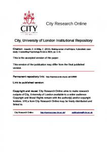 266KB - CITY RESEARCH ONLINE