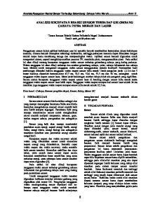 8 ANALISIS KECEPATAN REAKSI SENSOR TERHADAP GELOMBANG CAHAYA