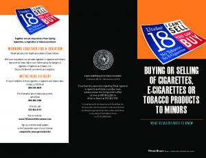 96-541 BUYING OR SELLING OF CIGARETTES, E-CIGARETTES OR TOBACCO