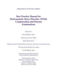 Best Practice Manual for Posttraumatic Stress Disorder