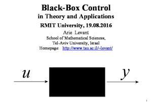 BLACK-BOX CONTROL