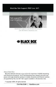 BLACK BOX TECH SUPPORT
