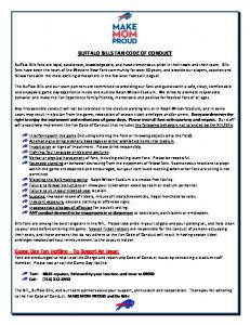 BUFFALO BILLS FAN CODE OF CONDUCT