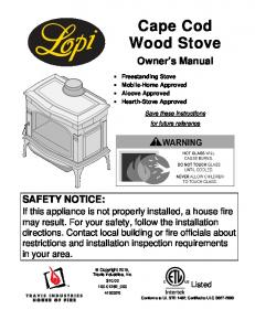 Cape Cod Wood Stove - Lopi Stoves