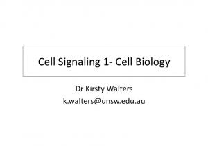 CELL SIGNALING 1- CELLBIOLOGY SLIDES FOR STUDENTS