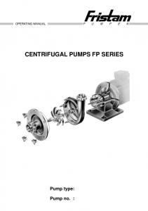 CENTRIFUGAL PUMPS FP SERIES