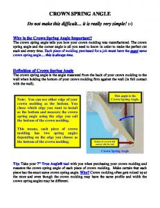 CROWN SPRING ANGLE - Compound Miter.com