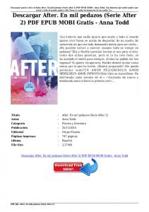 Descargar After. En mil pedazos (Serie After 2) PDF EPUB