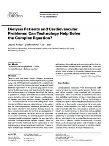 DIALYSIS PATIENTS AND CARDIOVASCULAR PROBLEMS