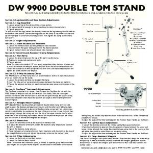 DW 9900 DOUBLE TOM STAND - Drum Workshop