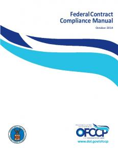 Federal Contract Compliance Manual July 2013