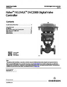 Fisher DVC2000 Digital Valve Controller - Emerson