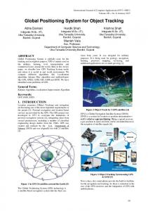 GLOBAL POSITIONING SYSTEM FOR OBJECT TRACKING