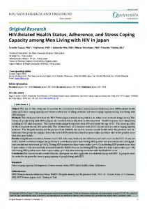 HIV-RELATED HEALTH STATUS, ADHERENCE, AND STRESS COPING CAPACITY