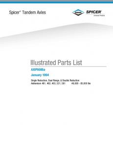 Illustrated Parts List - Canada Wide Parts Distributors Ltd