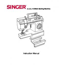 Instruction Manual - SINGER Sewing Co