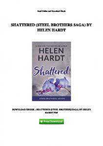 [J746.Ebook] Free Ebook Shattered (Steel Brothers Saga) By