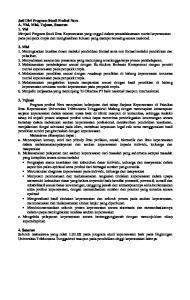 JATI DIRI PROGRAM STUDI PROFESI NERS A. VISI, MISI, TUJUAN, SASARAN 1