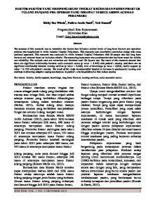JOM PSIK VOL. 1 NO. 2 OKTOBER 2014 1 FAKTOR-FAKTOR YANG