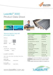 Laserlite 3000 Product Data Sheet