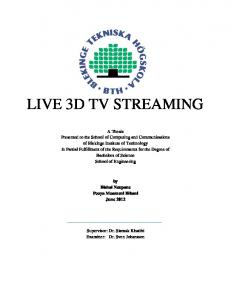 LIVE 3D TV STREAMING