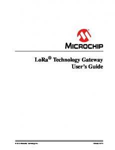 LoRa Technology Gateway User's Guide