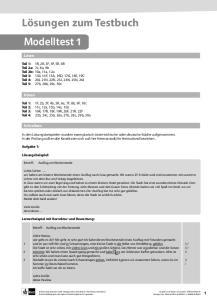 Lösungen zum Testbuch - Klett Sprachen