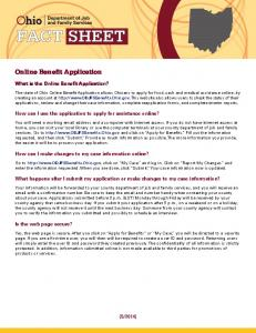 Online Benefit Application - Ohio - ODJFS Online