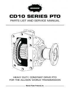 Parts list and service manual - Wholesale