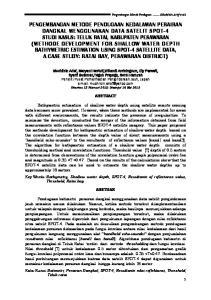 PENGEMBANGAN METODA PENENTUAN BATHIMETRIC MENGGUNAKAN DATA