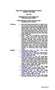 PERATURAN DAERAH PROVINSI JAWA TENGAH NOMOR 5 TAHUN 2003