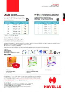 Price List - Yola