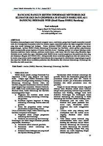RANCANG BANGUN SISTEM INFORMASI METEOROLOGI