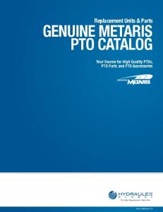 Replacement Units & Parts GENUINE METARIS PTO CATALOG