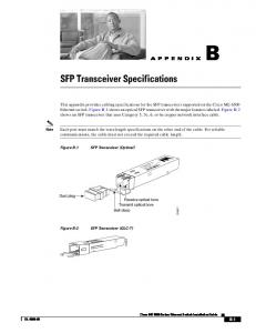 SFP Transceiver Specifications - Cisco
