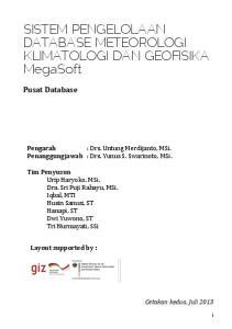 SISTEM PENGELOLAAN DATABASE METEOROLOGI