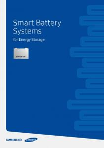 Smart Battery Systems - Samsung SDI