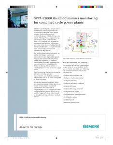 SPPA-P3000 thermodynamics monitoring for combined ... - Siemens