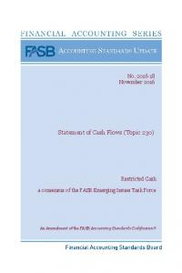Statement of Cash Flows (Topic 230)