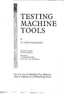 Testing Machine Tools - Totally Screwed Machine Shop