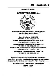VIS - Liberated Manuals