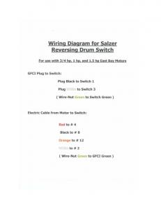 Wiring Diagram for Salzer Reversing Drum Switch For use